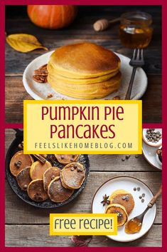 The best healthy, simple and easy pumpkin pancakes recipe - Light and fluffy pancakes from scratch. Great for kids, toddler, or baby because they taste like pumpkin pie. Homemade recipe but quick using canned pumpkin. Pumpkin Ice Cream, Canned Pumpkin, Pumpkin Pie Spice, Pumpkin Pancakes Easy, Pumpkin Cookies, Light And Fluffy Pancakes, Pancakes For Dinner, Pancakes From Scratch, Homemade Recipe
