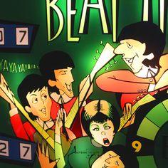 Riproduzione in plexiglass della testata flipper BEAT TIME del '67. La cornice in legno è personalizzabile; l'illuminazione interna a led è generata da batteria ricaricabile (caricatore incluso). Dimensioni: A 72,3 – L 77 – P 5,8 Il numero del totalizzatore è personalizzabile. #design #arredarecasa #colors #beattime #beatles #musica #design #music #art #artist #artigiano #artigiano #artigianale #madeinitaly #flipper #pinball #pinballart #vintagegame #retrogame Retro Game, Flipper, Pinball, Beatles, 3, Comic Books, Comics, Green, Design