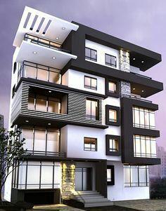 cost control – Architecture is art Condominium Architecture, Architecture Design, Facade Design, Residential Architecture, Exterior Design, Building Exterior, Building Design, Building Elevation, Building Facade