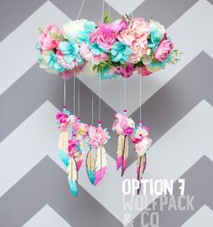 Giant Flowers, Hanging Flowers, Paper Flowers, Baby Crafts, Diy And Crafts, Arts And Crafts, Baby Decor, Kids Decor, Cute Art Projects
