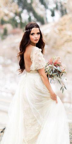 18 Boho Wedding Dresses Of Your Dream ❤ See more: http://www.weddingforward.com/boho-wedding-dresses/ #wedding #dresses #boho