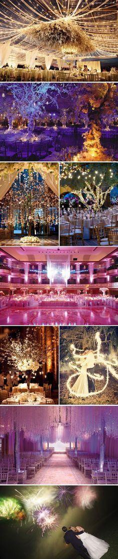 dramatic wedding decor