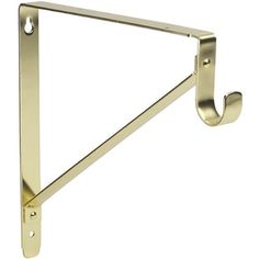 "Lido Heavy Duty Closet Bracket - Brass Finish by Lido Designs. $10.25. Should be installed every 4'.. Supports closet rods up to 1 1/2"" Diameter and fits shelving up to 12"" deep.. Offers dual support for both closet rods and shelving.. Made of hand polished steel with a clear coated brass finish.. Dimensions: 11 5/8""W x 10 7/8""H.. These closet rod supports double as closet shelving brackets too! Not only do they support the pole your clothes hang on, they hold shelving ..."