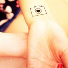 Tattoo Sticker Camera Pattern Waterproof Temporary Tattooing Paper Body Art