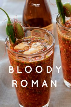The Bloody Roman Cocktail Recipe: Celebrity chef Chris Cosentino begins brunch with this spicy, beer-based, oyster-topped culinary concoction.