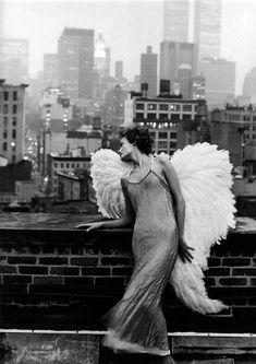 Lindbergh shoot starring Amber Valetta for Harper's Bazaar in 1993.