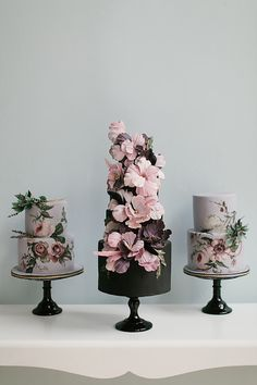 Hand Painted Wedding Cake - {By Nadia and Co.}