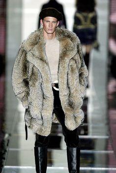 Lynx fur coat for men