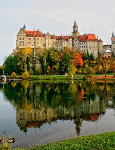 Reflections of Sigmaringen Castle, Baden-Württemberg, Germany (by A..W.)