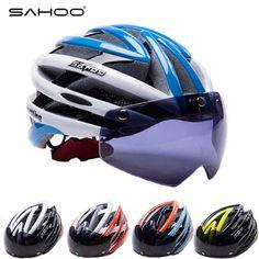 SAHOO Cycling Helmet Men Women Ultralight Bicycle Helmets With Magnetic Goggles MTB Mountain Road Bike Helmet Casco Ciclismo