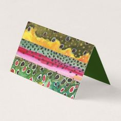 #fishing - #3 Trout Skins Art - Fly Fishing Business Card