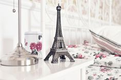 Eiffel Tower - eiffel tower, photography, room, paris, bedroom, beautiful, beauty, lovely, bed, pretty