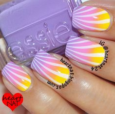 love this sunburst design!! Amazing nails  | See more nail designs at http://www.nailsss.com/nail-styles-2014/2/
