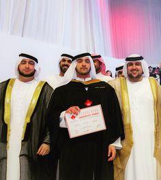Rashid, Maktoum y Saeed bin Hamdan bin Rashid Al Maktoum, graduación de Maktoum, 26/04/2017. Foto: m24hussain Vía: rbh_almak