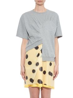 Marc By Marc Jacobs Blurred-dots print layered dress