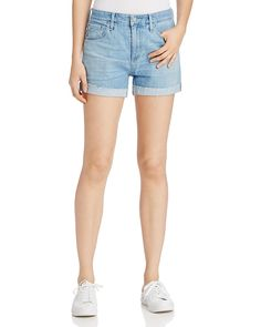 158.00$  Watch here - http://viccg.justgood.pw/vig/item.php?t=mj9auf55946 - AG Hailey Rolled Cuff Denim Shorts 158.00$
