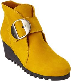 Arche Larrie Suede Bootie. Love the gold / mustard color. Perfect for fall. Affiliate