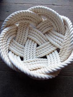 Cotton Rope Bowl Basket by AlaskaRugCompany