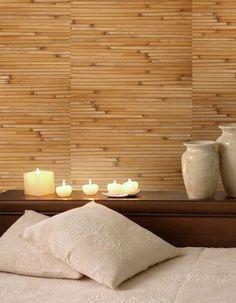 Bamboo Ochre Grasscloth - Bedroom Wallpaper Ideas - R1996