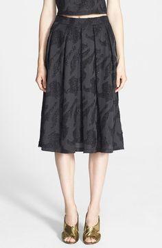 ASTR Metallic Jacquard Pleated Midi Skirt available at #Nordstrom