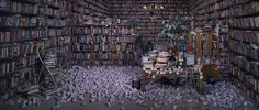 Improbable Libraries, Improbables Bibliothéques - Wang Qingsong, Follow Him, 2010   Photography — 170 × 400cm