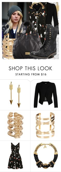 """tv inspiration: pretty little liars."" by valerieking ❤ liked on Polyvore featuring Rock 'N Rose, Chanel, Plein Sud, Jennifer Fisher, Topshop, John & Pearl, Marc by Marc Jacobs and H by Hudson"