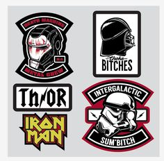 Toying with patch ideas for my fanboy jacket. Work by Hydro74