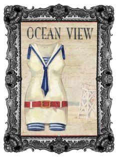 """Ocean View Fine Art Print Poster by Paul Brent  POSTERS-PRINT.COM"" by posters-print on Polyvore featuring interior, interiors, interior design, home, home decor, interior decorating, wallart and FineArtPrint"