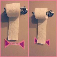 Para não haver desperdicio quando comecar a usar o papel higienico