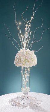 led lit flower arrangement