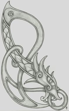 Viking Dragon 2011 2 by ~vikingtattoo on deviantART. Would look great behind the ear!