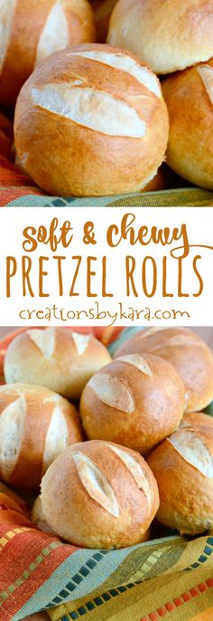 Chewy pretzel rolls are perfect with butter, dipped in soup, or as buns. Some of the best rolls you will ever taste!