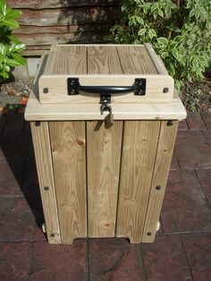 Parcel drop box. Facebook ... KH Garden furniture Sturdy wooden drop box made from treated timber. Lockable and internally lined for weatherproofing. A safe place to leave parcels when no one is home.