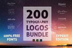 [Free Download ] 200 Typography Logos Bundle