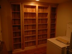 Beautiful book shelf built by one of our amazing craftsman using our patented Murphy door hardware kits.  available at www.themurphydoor.com or from any of our amazing vendors.