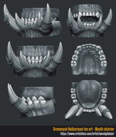 ArtStation - Orc teeth, Wendy de Boer
