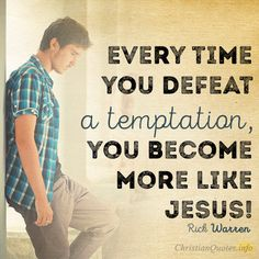 Daily Devotional - 3 Ways To Look At Temptation #Christianquote