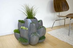 Gorgeous pottery for interior plants.  Love this idea. |Pinned from PinTo for iPad|