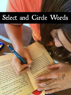 Blackout Poetry: Select and Circle Words