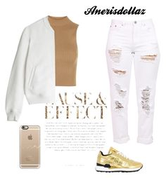 """""""Gold matters ✨"""" by anerisdollaz ❤ liked on Polyvore featuring Topshop, Envi, T By Alexander Wang, Casetify and Saucony"""