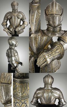 "An Italian armour for the foot tourney by the ""MASTER OF THE CASTLE"", Milan . One of the greatest producers of armour in the later middle ages and renaissance were arguably those of the lombardic city of Milan, ca. 1590-1600 . posted from https://darksword-armory.com/"