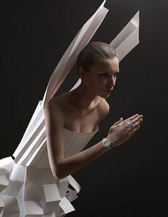 Paper Dresses by Alexandra Zaharova & Ilya Plotnikov
