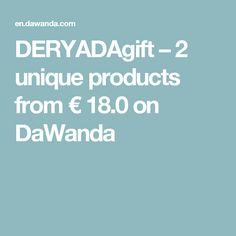 DERYADAgift – 2 unique products from € 18.0 on DaWanda