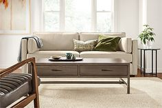 Classic Natural Steel End Tables - Modern End Tables - Modern Living Room Furniture - Room & Board