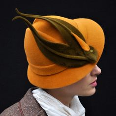 """A Behida Dolic Millinery made-to-order felt hat called """"When Birds Were Hats"""" http://www.etsy.com/listing/62950256/when-birds-were-hats-made-to-order-hat"""