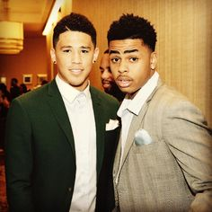 """Devin Booker on Instagram: """"✊"""". Booker and Russell in New York City before the NBA draft."""