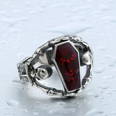 Skull Coffin Ring