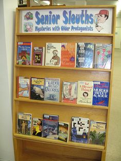 Senior Sleuths Book Display by BookGuide at LCL, via Flickr