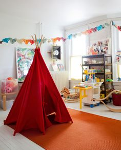 A great roundup of adorable and inspiring playrooms!