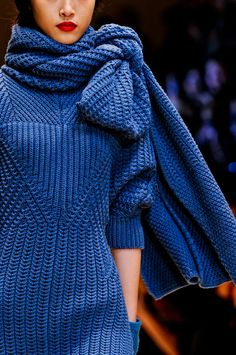 Knit Detail at Cacharel Fall/Winter 2012 | PFW